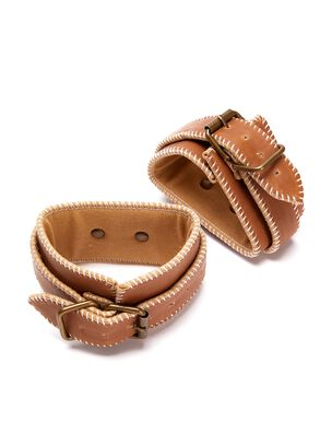 Premium Bonded Leather Ankle Cuffs