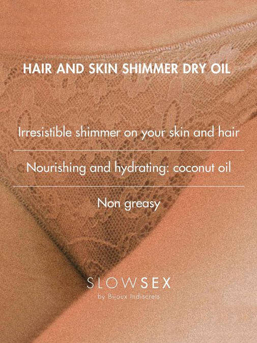Bijoux Indiscrets Slow Sex Hair And Skin Shimmer Dry Oil image number 5.0