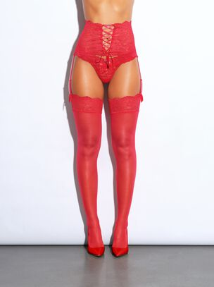 The Irresistible Waspie and Stockings Set