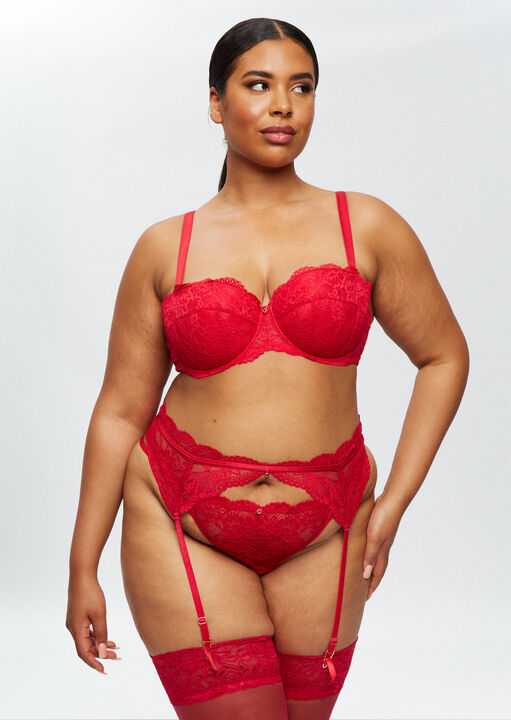 Sexy Lace Sustainable Suspender Belt image number 5.0