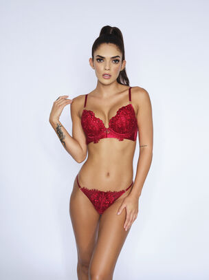 Fiercely Sexy Push Up Plunge Bra