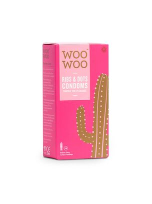 Woo Woo Ribs & Dots Condoms 12 Pack
