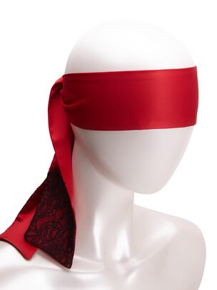 Satin And Lace Blindfold Red and Black