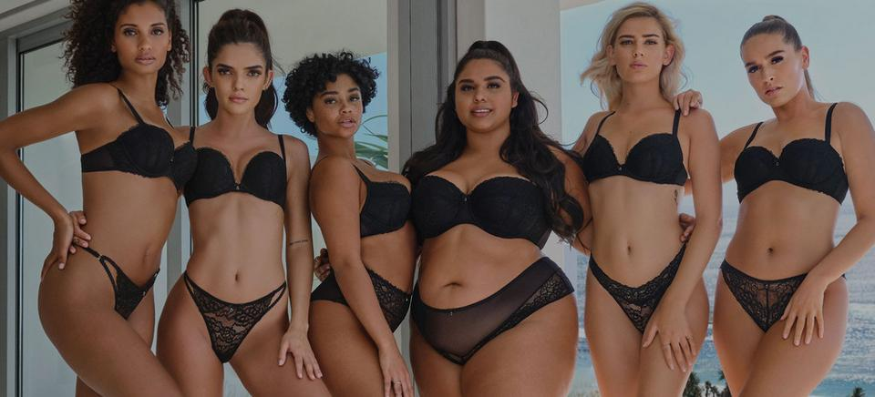 Women of all sizes celebrating their bodies.
