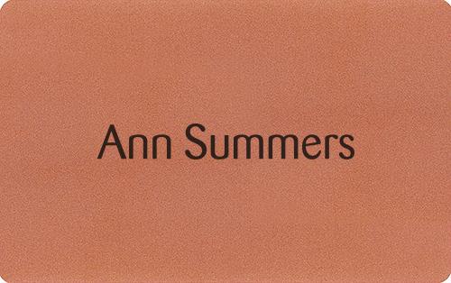 Ann summers gift card