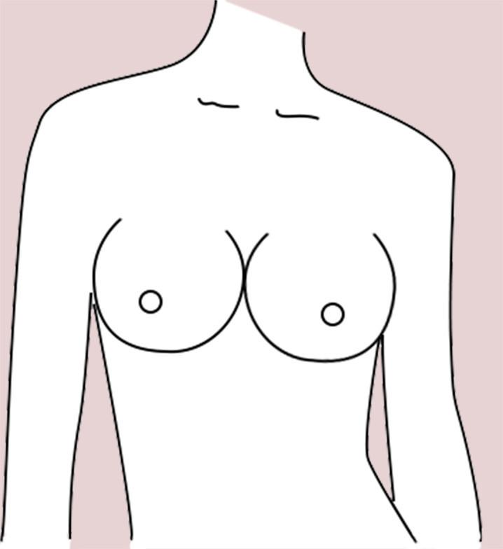 Round breast shape
