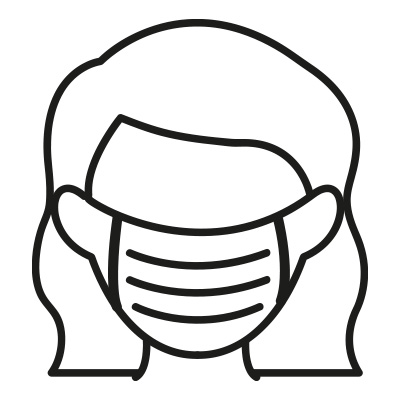 Icon of lady wearing face mask