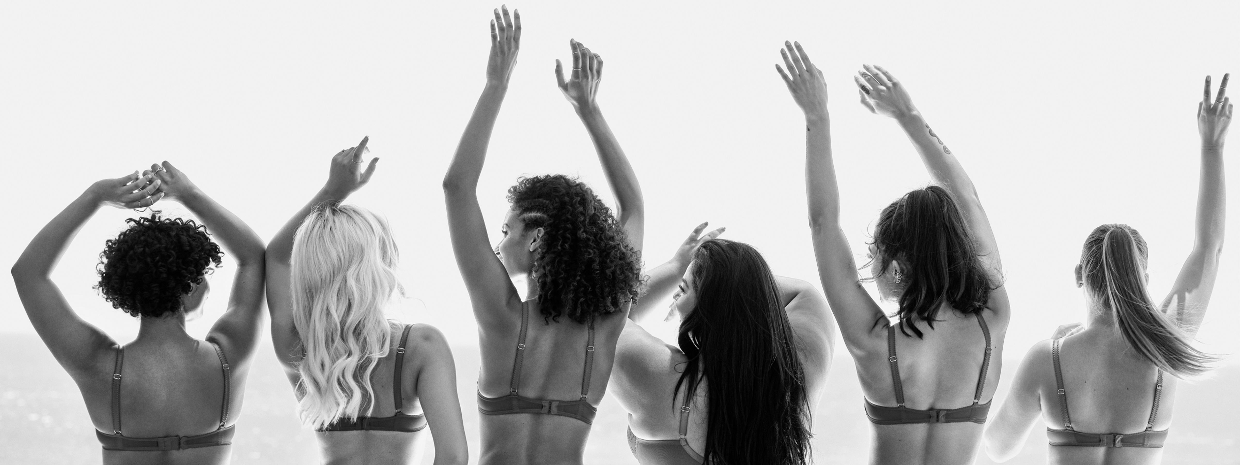 Women of all sizes celebrating their bodies.