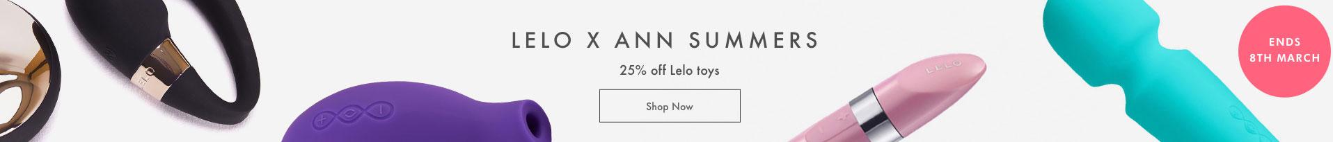 Lelo x Ann Summers - 25% off Lelo toys - Shop Now