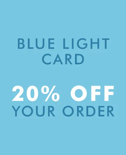 Blue Light Card Discount - 20% off your order