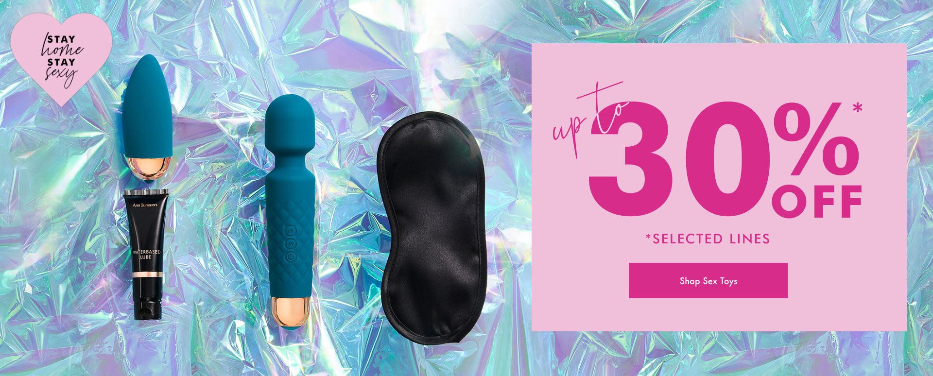 Up to 30% off selected lines - Shop Sex Toys